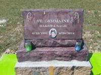 Slant headstone with base