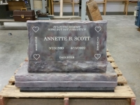 Slant headstone with base